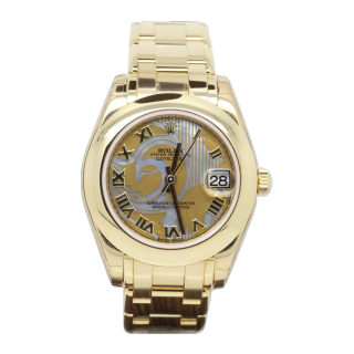 ROLEX PEARLMASTER MID SIZE 81208 18CT YELLOW GOLD DREAM MOP £15,995.00  - Cheshire Watch Company