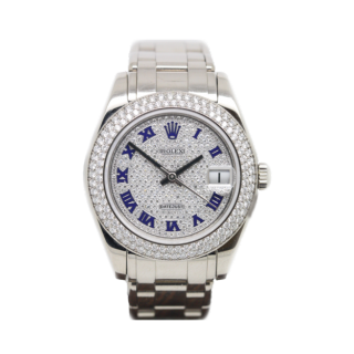 Rolex Diamond Pearlmaster mid size 81339 18ct white gold £28,995.00 - Cheshire Watch Company