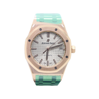 AUDEMARS PIGUET ROYAL OAK 18CT ROSE GOLD £30,495.00 15450OR.OO.1256OR.01 - Cheshire Watch Company