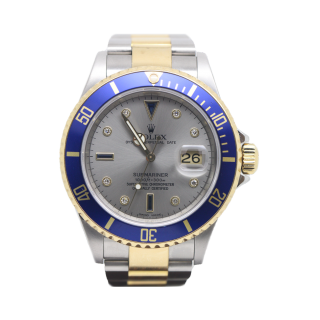 Rolex Submariner 16613LB 18ct Yellow Gold and Steel Serti Dial £10,995.00