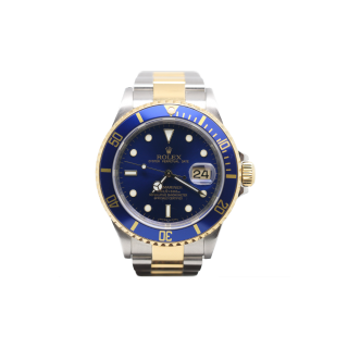 ROLEX SUBMARINER 16613LB 18CT YELLOW GOLD AND STEEL £9495.00