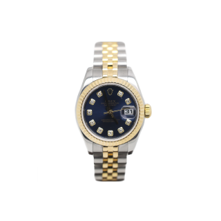 ROLEX LADY DATEJUST 179173 18CT YELLOW GOLD AND STEEL DIAMOND DIAL £5495.00