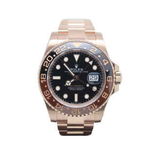 ROLEX GMT MASTER II 126715CHNR 18CT ROSE GOLD £29,995.00 - The Cheshire Watch Company