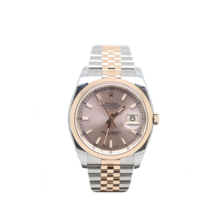 ROLEX DATEJUST 116201 18CT ROSE GOLD AND STEEL £7995.00 - Cheshire Watch Company