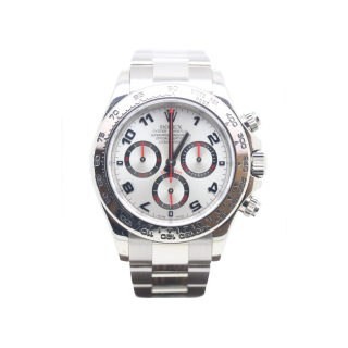 Rolex Daytona 116509 18ct white gold silver racing dial £17,995.00  - The Cheshire Watch Company