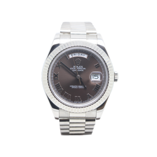 Rolex Daydate II 218239 18ct white gold £18,495.00 - The Cheshire Watch Company