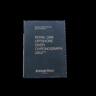 AUDEMARS PIGUET ROYAL OAK OFFSHORE DIVER INSTRUCTION BOOKLET