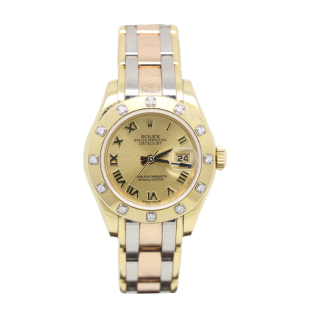 ROLEX LADY DATEJUST PEARLMASTER TRIDOR 80318 £11,995.00 The Cheshire Watch Company