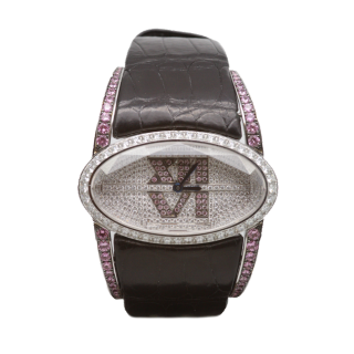 CHOPARD 18CT WHITE GOLD AND FANCY PINK AND WHITE DIAMONDS £34,995.00