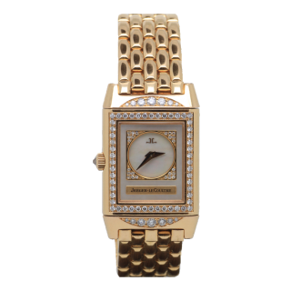 JAEGER LE COULTRE LADY DUETTO DIAMOND REVERSO 18CT ROSE GOLD AND DIAMONDS £13,995.00  - Cheshire Watch Company