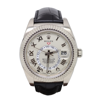 ROLEX SKYDWELLER 18CT WHITE GOLD 326139 £23,995.00 - The Cheshire Watch Company