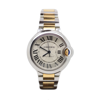 CARTIER BALLON BLEU STEEL AND 18CT YELLOW GOLD W2BB0002 £5395.00 - Cheshire Watch Company