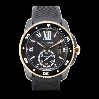 CALIBRE DE CARTIER CARBON DIVER W2CA0004 £8295.00 - Cheshire Watch Company