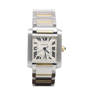 CARTIER TANK FRANCAISE STEEL AND 18CT YELLOW GOLD W51005Q403 £2995.00 - Cheshire Watch Company