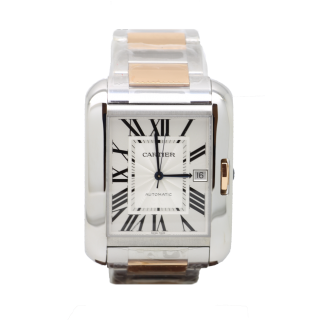 CARTIER TANK ANGLAISE STEEL AND 18CT ROSE GOLD W531006 £6100.00 - Cheshire Watch Company