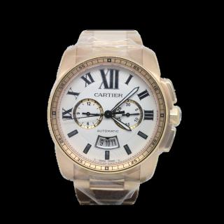 CALIBRE DE CARTIER 18CT ROSE GOLD W7100047  - Cheshire Watch Company